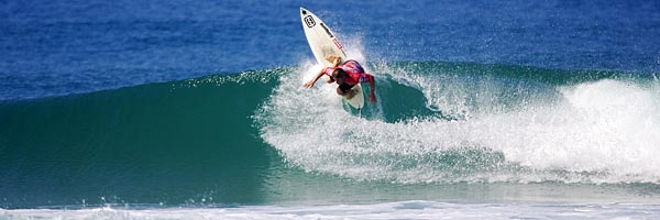 Mark Occhilupo (Aus) was an unfortunate loss to the Quiksilver Pro France 2004. 'Occy' was defeated by countryman Luke Hitchings in round two.